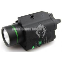 Everbright战术绿镭射电筒Tactical Full Metal Flashlight & Strobe Green Laser combo